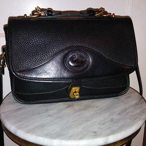 DOONEY & BOURKE BLACK ALL-WEATHER LEATHER BAG